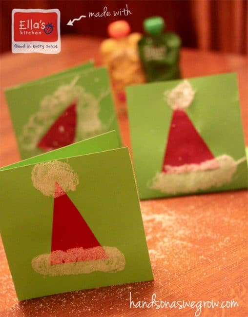 Make a Santa Hat Christmas card with the kids