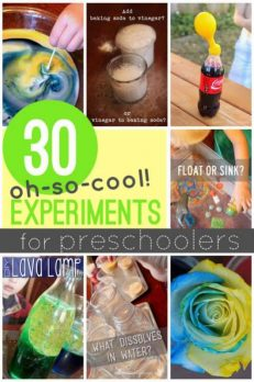 30 very cool experiments for preschoolers to try