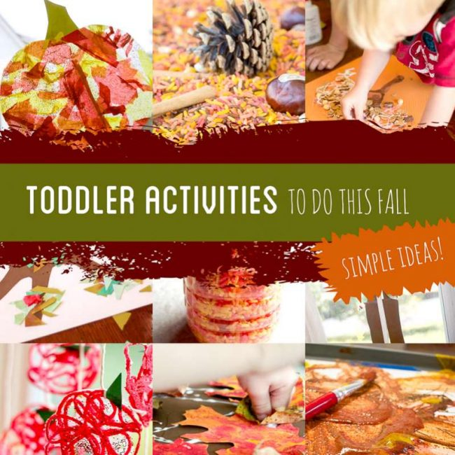 The 22 Simplest Fall Activities for Toddlers + Bucket List!