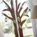 A Window Fall Tree Craft for Toddlers