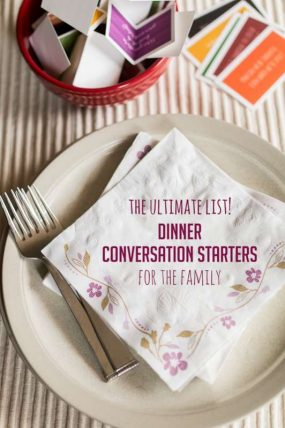 A giant list of favorite dinner conversation starters for families (with kids) and where to find lots and lots more