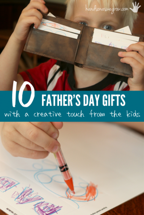Father's Day Gifts with a Creative Touch from the Kids