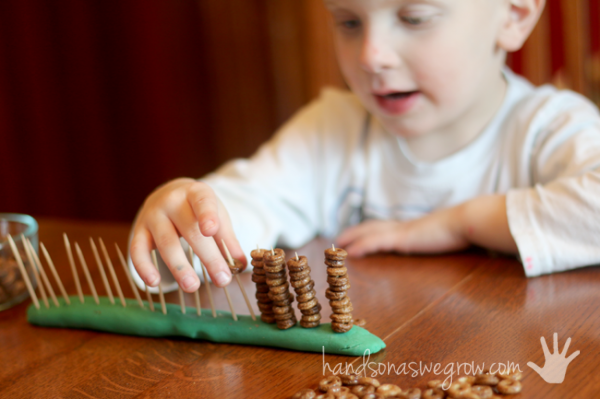 Younger kids that can't do skip counting can use it as an activity for fine motor skills