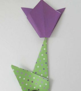 Make A Simple Origami Tulip With Your Kids!