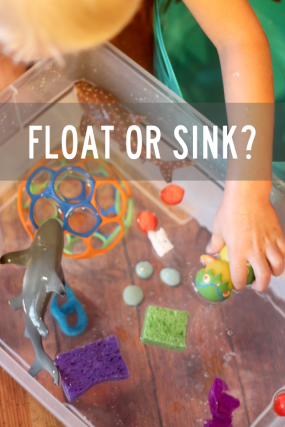 An experiment to find out what floats or sinks