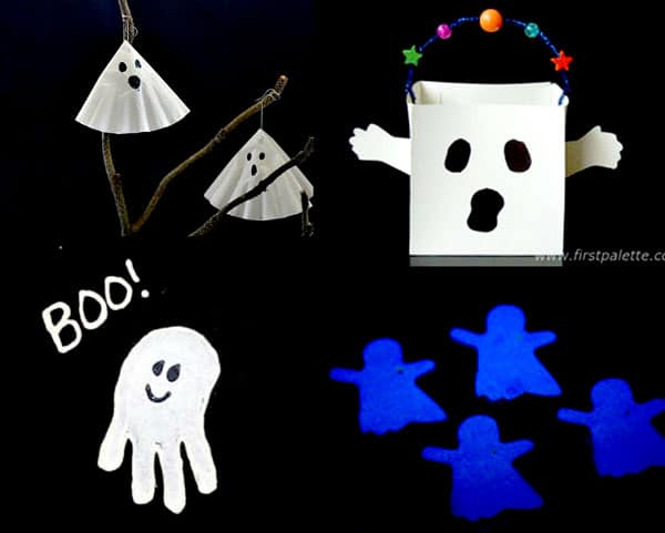 Not really spooky ghost crafts for kids to make