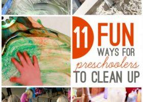 11 Fun ways for preschoolers to clean up too