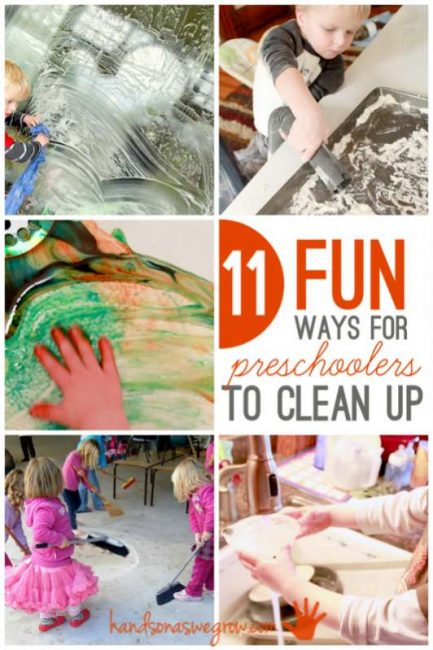 11 fun ways for preschoolers to help clean up - and love it!