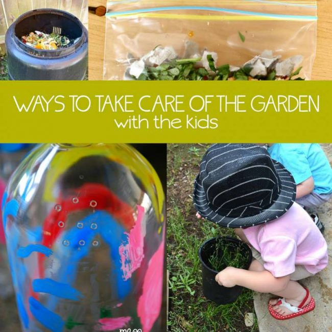 Getting the kids involved in taking care of the garden