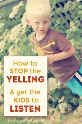 Stop the Yelling & Learn How to Get the Kids to Listen