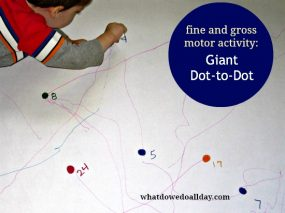 Giant Dot-to-Dot for Fine and Gross Motor Skills