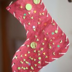 Classic Glittery Christmas Stocking Craft