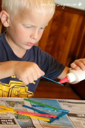 gluing-craft-sticks-activity