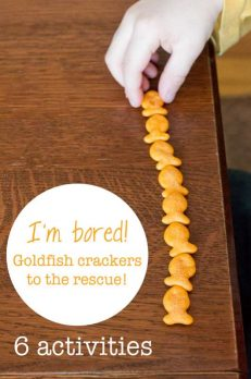 Cure the I'm Bored's with Goldfish Crackers - 6 activities to do with them