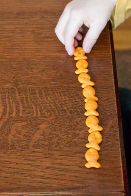 Simply count goldfish crackers