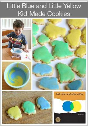 Little Blue and Little Yellow Cookies from Buggy and Buddy
