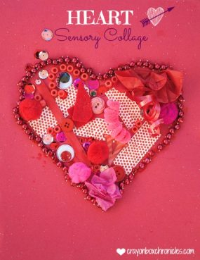 Heart Sensory Collage from Crayon Box Chronicles