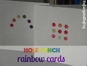Hole punch rainbow cards