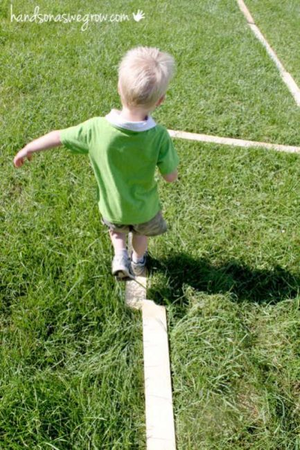 Balance beam for toddlers helps build core strength