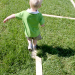 Homemade Balance Beam for Toddlers