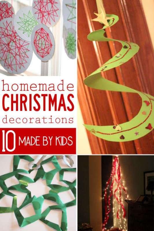 10 Homemade Christmas Decorations for Kids to Make