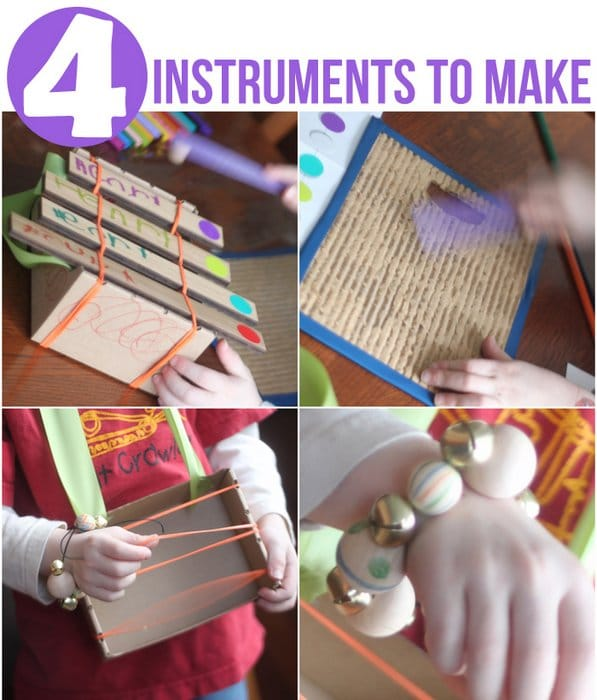 Instruments for Kids to Make from Activity Kit