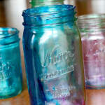 How to Tint Mason Jars: So Simple the Kids Did It!
