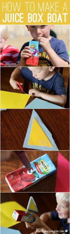 How to make a juice box boat