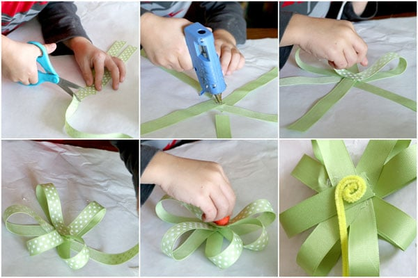 How to make a ribbon flower bouquet