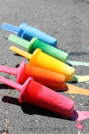 7 Ways to Make Ice Chalk from Reading Confetti