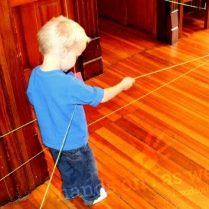 String Scavenger Hunt with Letters