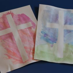 Tape Resist Cross Craft from Happy Home Fairy