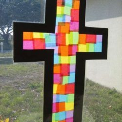 Stained Glass Cross from Happy Home Fairy