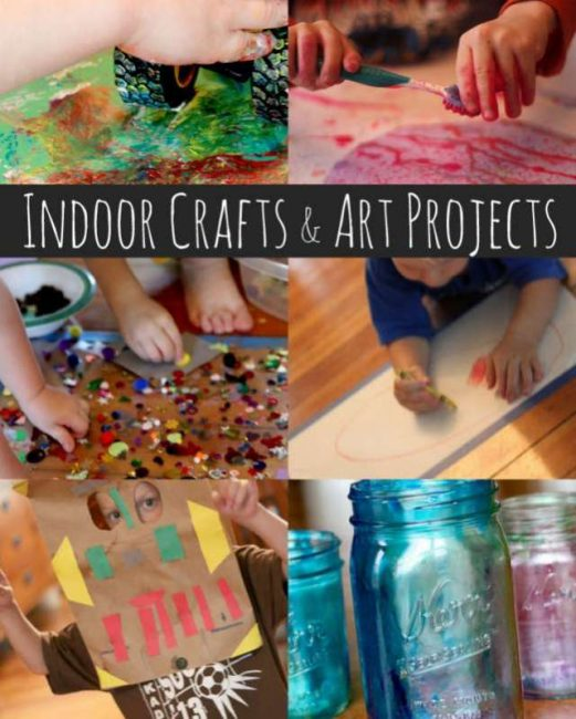 Indoor crafts and art projects for kids