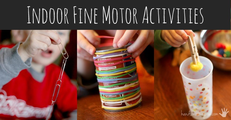 Indoor fine motor activities for kids