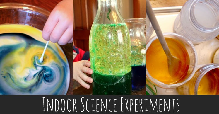 Indoor science experiments for kids