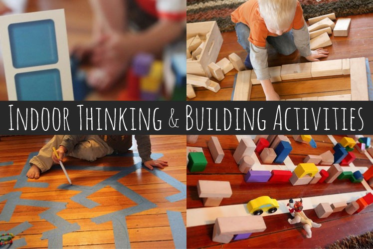 Indoor thinking and building activities for kids