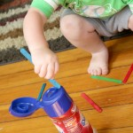 Fine Motor Activity for Toddlers To Do with a Plastic Bottle