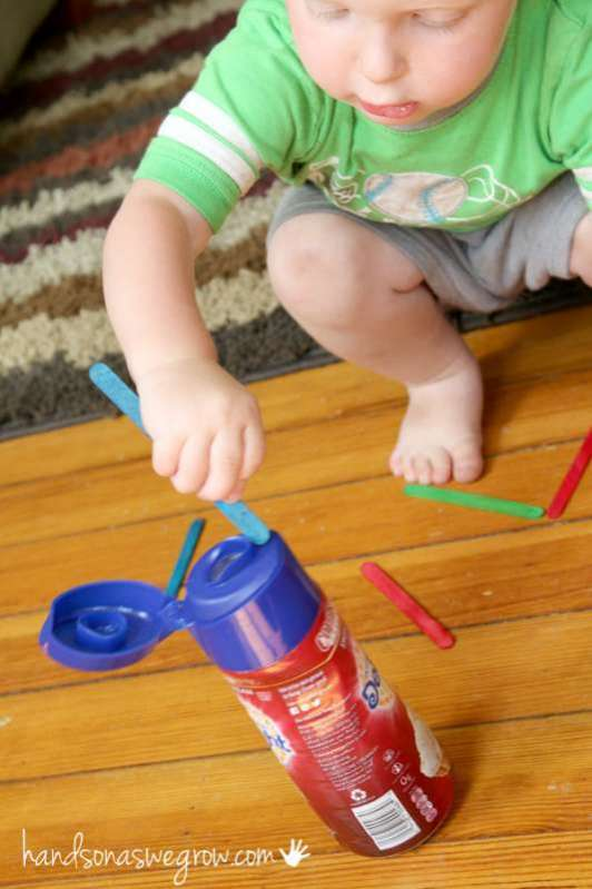 What to do with a plastic bottle make it a fine motor for Small motor activities for infants
