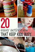 20 easy activities that help with keeping the kids busy (and happy!)