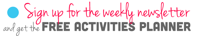 Receive the weekly newsletter of hands on activities