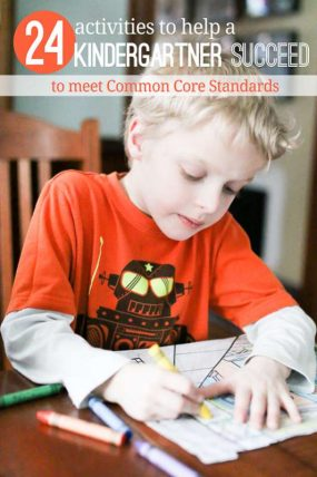 Simple activities to do to help a kindergartner succeed with common core standards