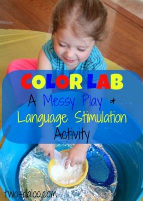 Color Lab: A Messy Playdate and Language Stimulation Activity