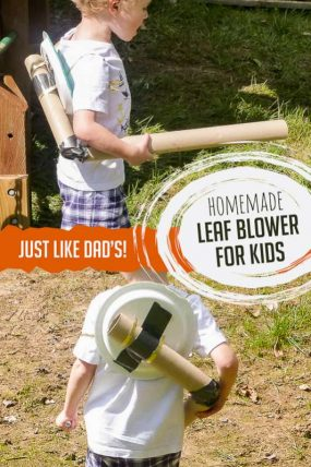 Homemade Leaf Blower Fall Craft for Kids