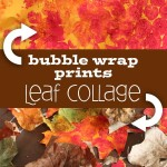 Fall Leaf Collage made with Bubble Wrap Art