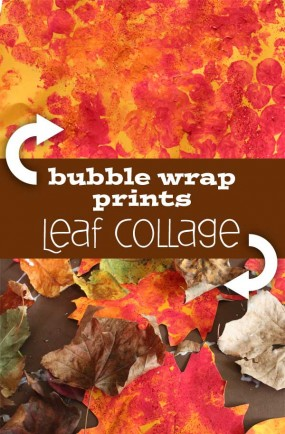 leaf-collage-bubble-wrap-art