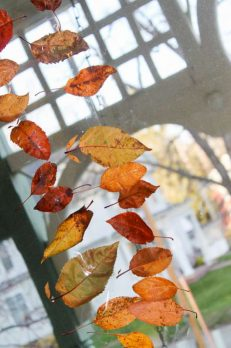 A leaf garland to decorate for fall