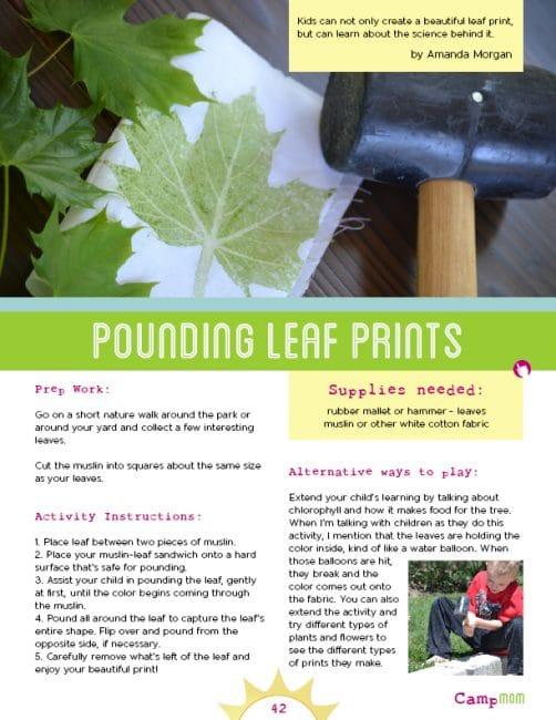 leaf pounding