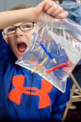 The leak-proof bag experiment is such a fun experiment for kids to do!