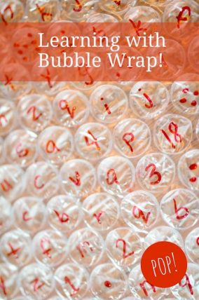 Using bubble wrap as a learning tool for young kids!